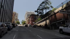 View travelling down Powell Street to Union Square, San Francisco, California, United States of America, North America