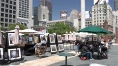 Union Square on summer day, Union Square, San Francisco, California, United States of America, North America