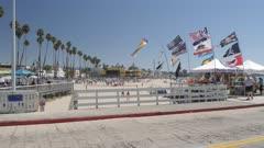 View of Municipal Wharf and beach, Santa Cruz, California, United States of America, North America