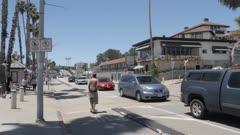 Traffic on Beach Street on summer'?s day, Santa Cruz, California, United States of America, North America