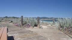 Crane shot of beach and Pacific Ocean, Monterey Peninsula, California, United States of America, North America