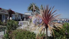 Crane shot of Cannery Row, Pacific Ocean, Monterey Peninsula, California, United States of America, North America