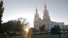 Saints Peter and Paul Church at sunset, San Francisco, California, United States of America, North America
