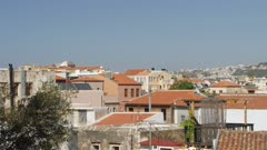 Chania skyline and The Orthodox Cathedral in the background, Chania, Crete, Greek Islands