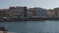 The Venetian era harbour at the Mediterranean port of Chania, Crete, Greek Islands, Greece, Europe