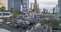 Time lapse of intersection of Las Vegas Boulevard and East Flamingo Road, Las Vegas, Nevada, USA, North America