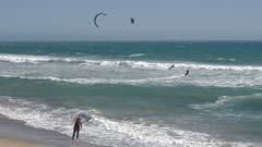 Still shot of Kitesurfing water sport near Half Moon Bay, California, United States of America, North America