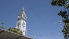 Ferry Building Market Hall and Tram, San Francisco, California, United States of America, North America