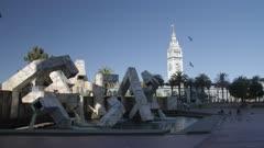 Ferry Building Market Hall from Embarcadero Plaza, San Francisco, California, United States of America, North America