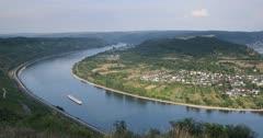 View of Boppard and River Rhine, Oberwesel, Rhineland-Palatinate, Germany