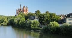 Limburg Cathedral and River Lahn, Limburg, Hesse, Germany