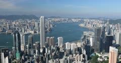 View of Hong Kong Island and Kowloon skylines from Victoria Peak, Hong Kong
