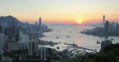 View of Hong Kong Island, Kowloon and Victoria Harbour, Hong Kong