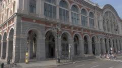 Torino Porta Nuova railway station in Turin, Italy, Europe