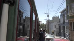 Cable car on Powell Street in San Francisco, USA, North America