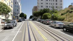 Cable car on Hyde Street in San Francisco, USA, North America