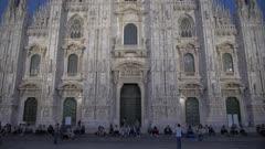 Duomo di Milano at sunset in Milan, Italy, Europe