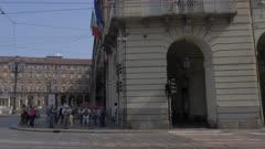 Castello degli Acaja in Piazza Castello, Turin, Italy, Europe