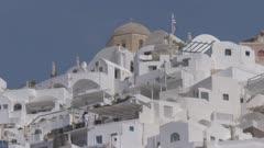 Windmill in village of Oia in Santorini, Greece, Europe