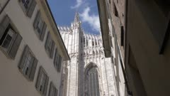 Apartment buildings by Duomo di Milano in Milan, Italy, Europe