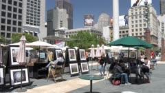 Art market in Union Square, San Francisco, USA, North America