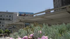 Crane shot of Union Square in San Francisco, USA, North America