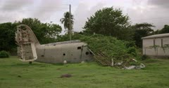 Abandoned plane at Pearls Airport, Grenada, West Indies, Caribbean, Central America