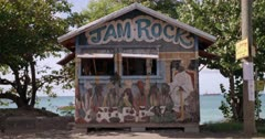 Caribbean beach shack, Hillsborough, Carriacou, Grenada, West Indies, Caribbean, Central America