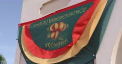 Grenada Independence Day Celebration Banner, Hillsborough, Carriacou, Grenada, West Indies, Caribbean, Central America