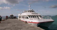 Exterior of Osprey Ferry docked in Carriacou, Grenada, West Indies, Caribbean, Central America