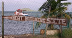 Boat building site sign, Windward, Carriacou, Grenada, West Indies, Caribbean, Central America