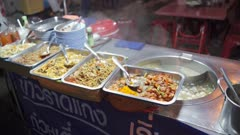 Steet food at night market in Chinatown in Bangkok, Thailand, Southeast Asia, Asia