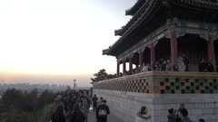 Sunset from Jingshan Park, Beijing, China, Asia