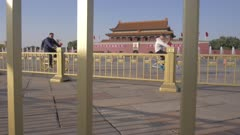 Traffic and Gate of Heavenly Peace, Forbidden City, UNESCO World Heritage Site, Beijing, China, East Asia