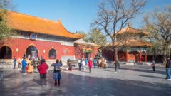 View of Tibetan Buddhist Lama Temple (Yonghe Temple), Dongcheng, Beijing, People's Republic of China, Asia
