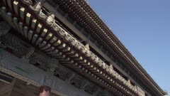 Traditional Chinese architecture of the City Wall, Xi'an, Shaanxi, People's Republic of China, Asia
