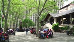 Local people in Columbus Park, Chinatown, Manhattan, New York City, New York, United States of America, North America
