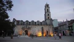Convento de San Francisco de Asis at night, La Habana Vieja (Old Havana), UNESCO World Heritage Site, La Habana (Havana), Cuba, West Indies, Caribbean, Central America