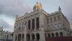 The former Presidential Palace, The Museum of the Revolution in Havana at sunset, Cuba, West Indies, Caribbean, Central America