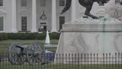 White House from Lafayette Square, Washington DC, United States of America, North America