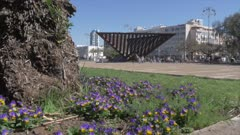 Rabin Square during spring, Tel Aviv, Israel, Middle East