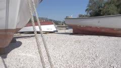 Harbour, boats and the village of Mali Ston, Dubrovnik-Neretva, Croatia, Europe
