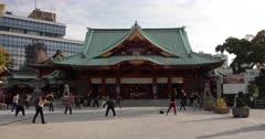 People doing Tai Chi at Kanda Myoujin Shrine, Tokyo, Japan, Asia