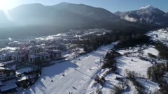 Bansko ski resort home run, Bansko, Bulgaria, Europe