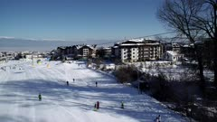 Bansko ski resort home run, Bulgaria, Europe
