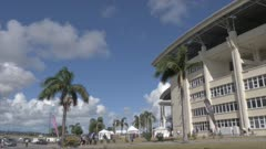 Exterior of Sir Vivian Richards Cricket Ground, Antigua, Antigua and Barbuda, Caribbean Sea, West Indies, Caribbean, Central America