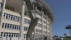Sir Vivian Richards statue at Cricket Ground, Antigua, Antigua and Barbuda, Caribbean Sea, West Indies, Caribbean, Central America