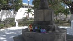 Memorial Cross near Recreation Ground, St. John's, Antigua, Antigua and Barbuda, Caribbean Sea, West Indies, Caribbean, Central America