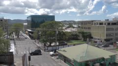 St. John's from Recreation Ground, Antigua, Antigua and Barbuda, Caribbean Sea, West Indies, Caribbean, Central America
