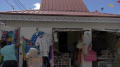 View of stalls on Melville Street, St. George's, Grenada, Windward Islands, West Indies, Caribbean, Central America